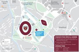 Royals Stadium Map London Stadium Store Open All Summer West Ham United
