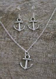 Items Similar To Nautical Anchor - bridesmaid anchor earrings sterling silver by ornatetreasures