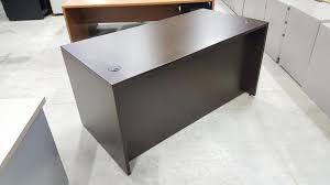 images of espresso dark walnut desk with locking drawers