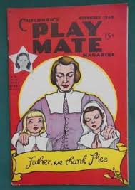 children s play mate magazine august 1937 with paper doll by fern