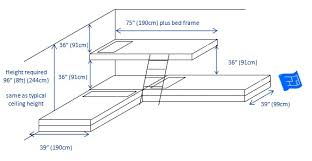L Shaped Bunk Bed Plans Built In Bunk Beds
