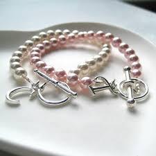 Children S Bracelets Personalised Swarovski Pearl Children U0027s Bracelet Initial U0026 Charm