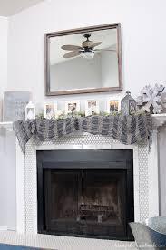 mantle decor diy neutral winter mantle a houseful of handmade