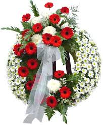 funeral ribbon circle wreath funeral wreaths