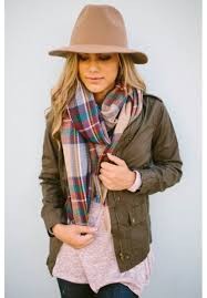 oversized brown plaid scarf zoe plaid scarf escloset