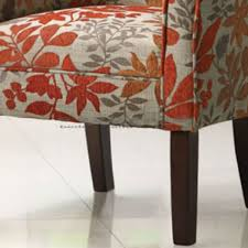 Floral Accent Arm Chairs Adeco Adeco Purple Floral Accent Chair - Floral accent chairs living room