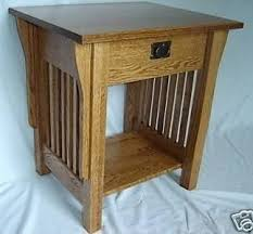 Mission Style Nightstand Hand Crafted New Mission Style Solid Oak Wood Bedside Bedroom