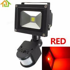 red led flood light 20w waterproof red led floodlight pir infrared body motion sensor