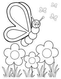 coloring page butterfly flower coloring pages