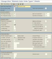 sap document types table sap123 configuration of sales document types