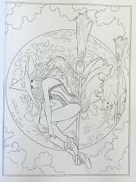 gothic dark fantasy coloring book fantasy art coloring by