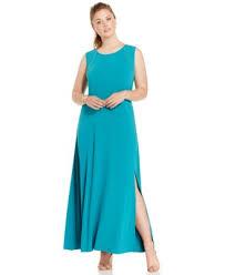 calvin klein plus size printed colorblocked maxi dress dresses