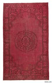 Dying A Rug K0007993 Over Dyed Turkish Vintage Rug Overdyed Vintage Rugs