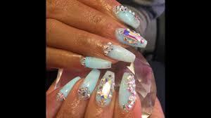 glitter nail salon glow in the dark nails youtube