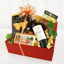 wine and cheese basket wine cheese gift basket