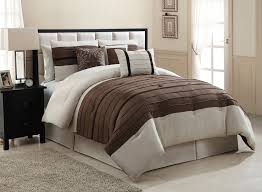 Suede Bed Frame Contemporary Look Bedroom With City Loft Brown Beige Micro Suede
