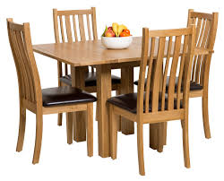 4 Chair Dining Table Set With Price Waverly Oak Small Extending Table With Folding Leaves Hallowood