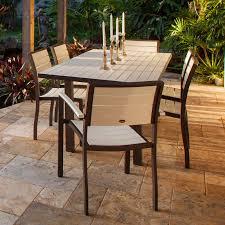 Patio Dining Sets Seats 6 - polywood euro plastique patio dining set seats up to 6 hayneedle