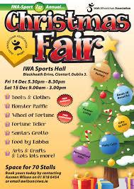 irish wheelchair association sport 1st annual christmas fair