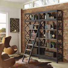 industrial wood shelving unit brickell collection u2022 modern