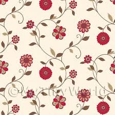 wallpaper for house dolls house miniature wallpaper dolls house miniature mixed red