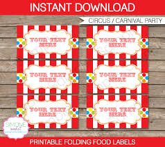 food templates free download 15 best photos of party food label templates free printable carnival party food labels templates free