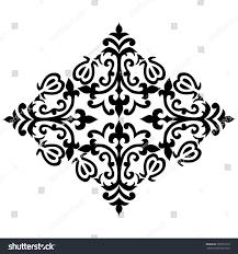 black white antique ottoman turkish design stock vector 395931610