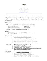 Best Job Objective For Resume by Barback Resume Haadyaooverbayresort Com