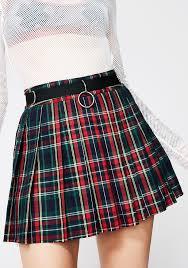 current mood crimson dress code plaid skirt dolls kill