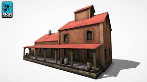 factory building fac bs 03 3d model cgtrader