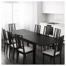 Black Dining Room Table And Chairs Bjursta Extendable Table Brown Black Ikea