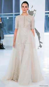 discount tulle overskirt a line wedding dresses 2018 peter langner