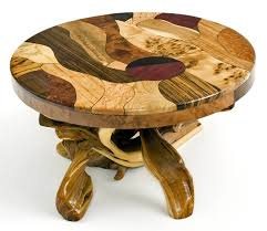 Exotic Coffee Tables by Artistic Coffee Table Exotic Woods In Mosaic Design Rustic