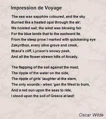 impression de voyage poem by oscar wilde poem hunter