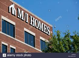 a logo sign outside of the headquarters of m i homes inc in