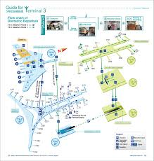 airport terminal floor plan domestic depatures t3 guides bcia
