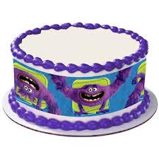 monsters inc art round edible image cake decoration