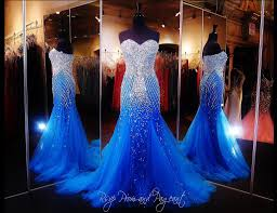2017 royal blue mermaid prom dresses beaded special occasion