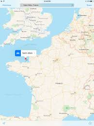 St Malo France Map by Elham Abdi Ellieabdi Twitter