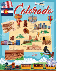 County Map Of Colorado by Cartoon Map Of Colorado Stock Vector Art 622219436 Istock