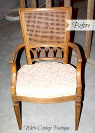Recovering Dining Chairs Replacing Cane With Padded Upholstery Upholstery Red Dining