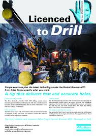 magazine advertisement for a mining drill i came up with the