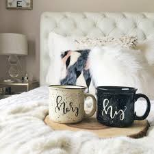 His And Hers Bedroom by His And Hers Mugs His And Hers Engagement Gift Handlettered
