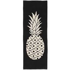 Beige Runner Rug 3 X 8 Runner Pineapple Runner Black Beige Washable Rug Rc