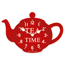 wall clocks for kitchen modern retro kitchen wall clock unique teapot clock red color tea time