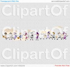 royalty free vector clip art illustration of a border of stick
