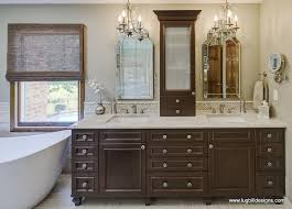 Transitional Vanity Lighting Adorable Walnut Vanity Transitional Bathroom Lugbill