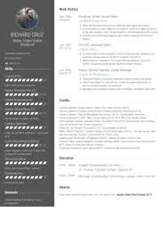 Good Resume Sample by Video Editor Resume Samples Visualcv Resume Samples Database