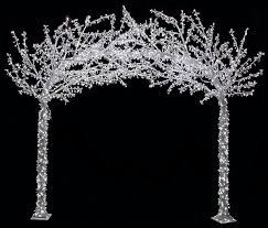 9l x 8 25 h led acrylic arch tree multi or white arch trees