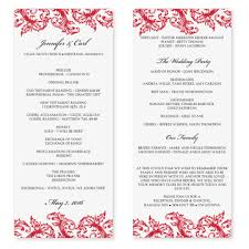 Wedding Program Sample Template Diyweddingtemplates Com Wedding Program Templates Venice Ruby
